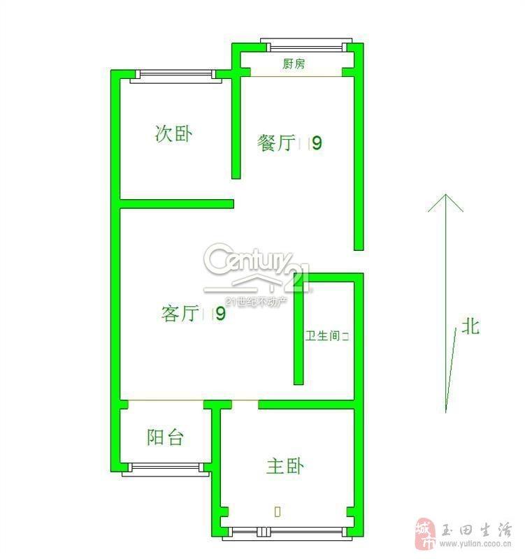 玉田鳳凰春城2室2廳1衛62萬元