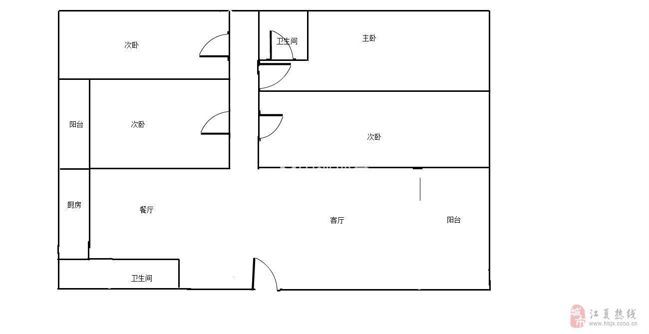 城明花园5室2厅1卫153万元