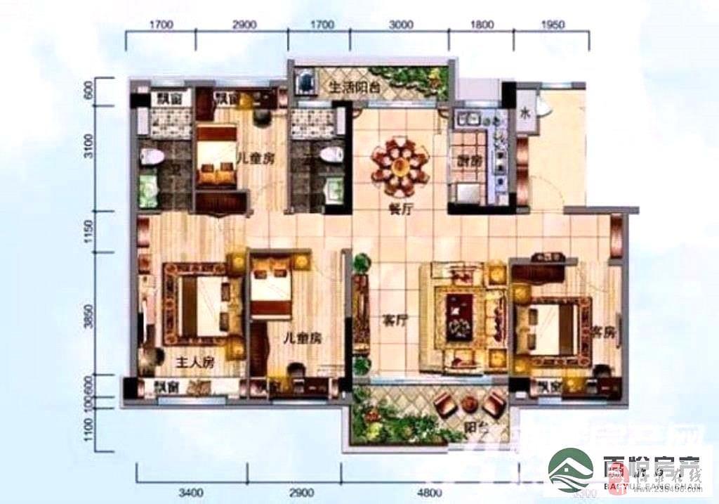 威尼斯人线上平台·碧桂园精装4室2厅2卫150万元