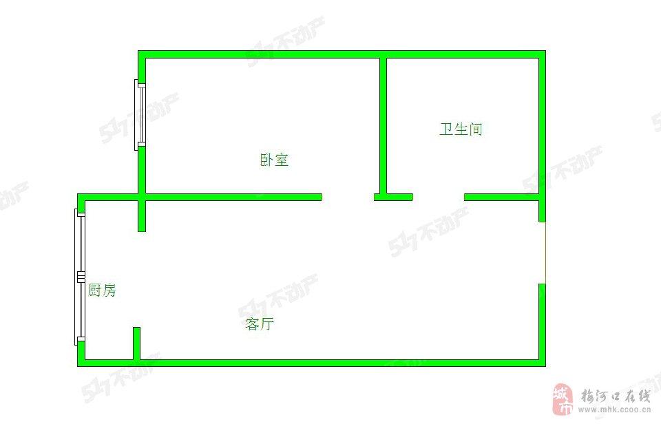 上河湾1室1厅23万元精装修小户型