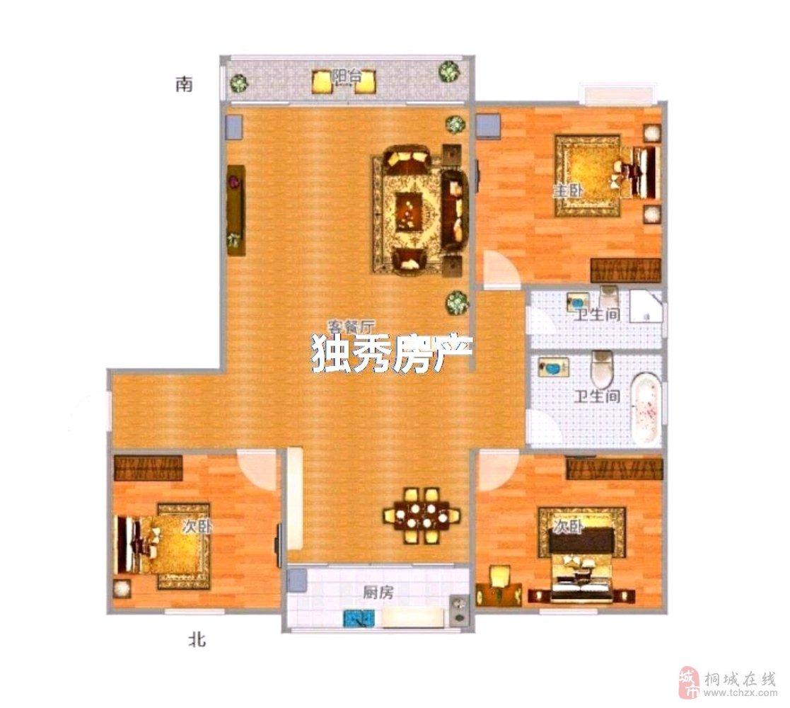 鸿润·龙腾首府精装三室二卫高层电梯交通便利