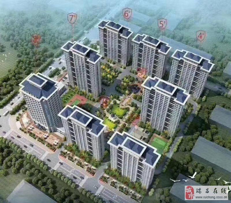 瑞昌市政府旁一手電梯新房均價4500一平大潤發商場