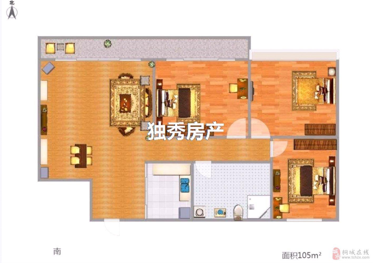 出售上和家园精装房3室2厅1卫85万元