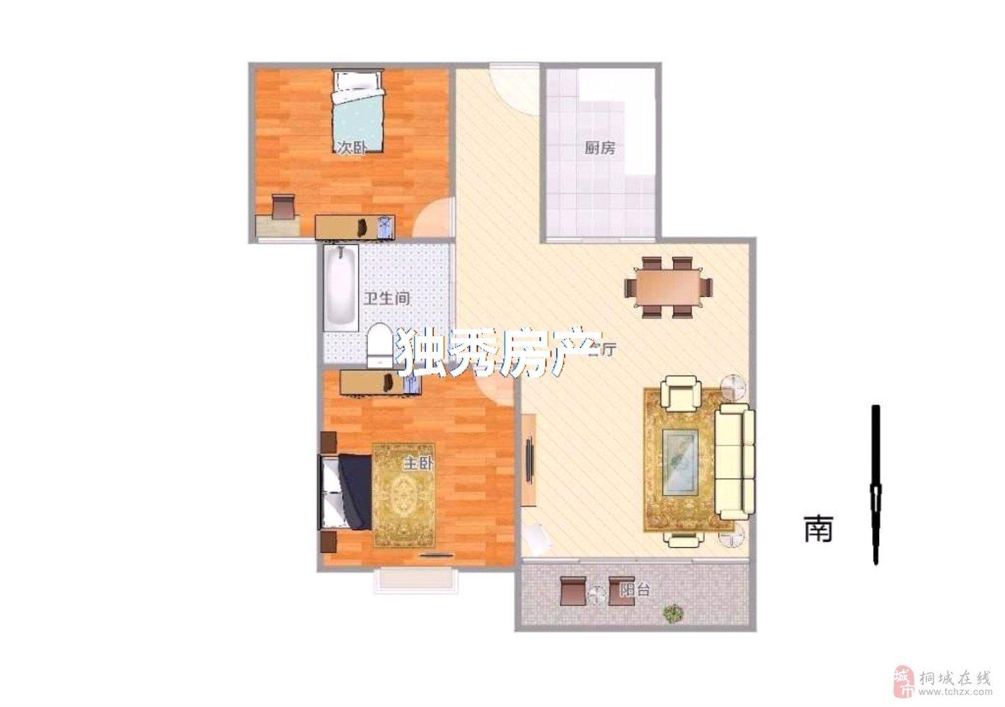 上和家园2室2厅1卫43万元