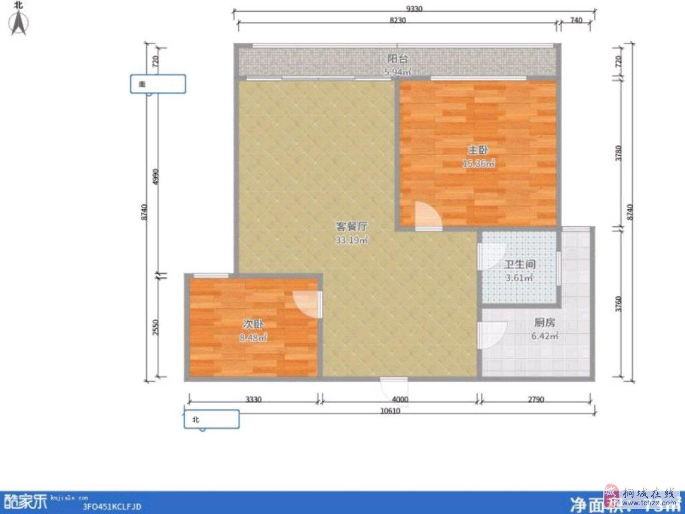 惜售山水龙城电梯洋房精装修两室双阳台拎包入住