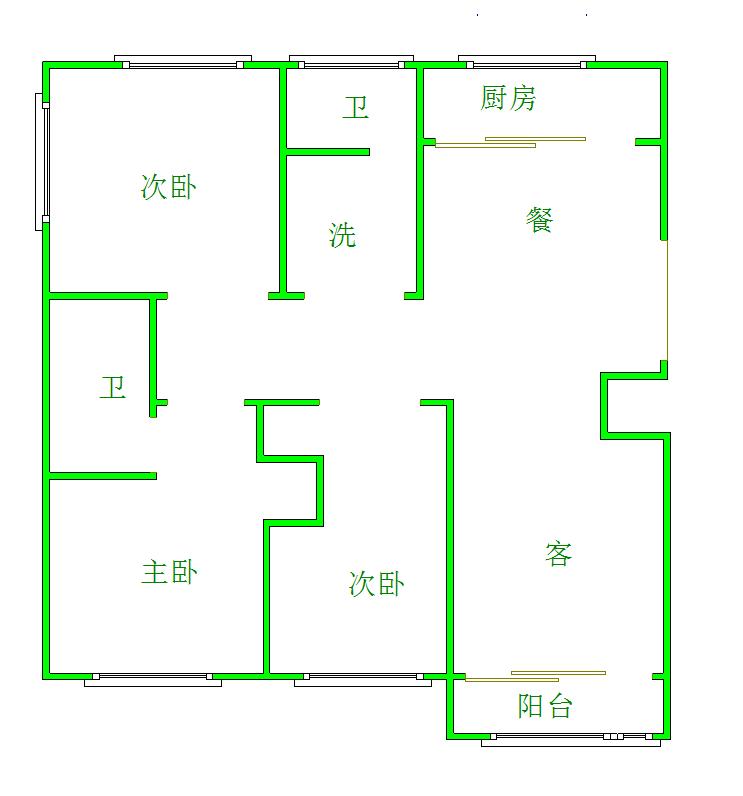 萬豪紫金苑3室2廳2衛38萬元