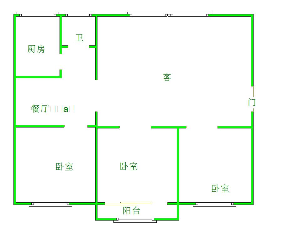 建材都市家園3室2廳2衛35萬元