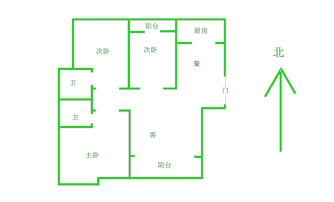 御景華城3室2廳2衛58萬元