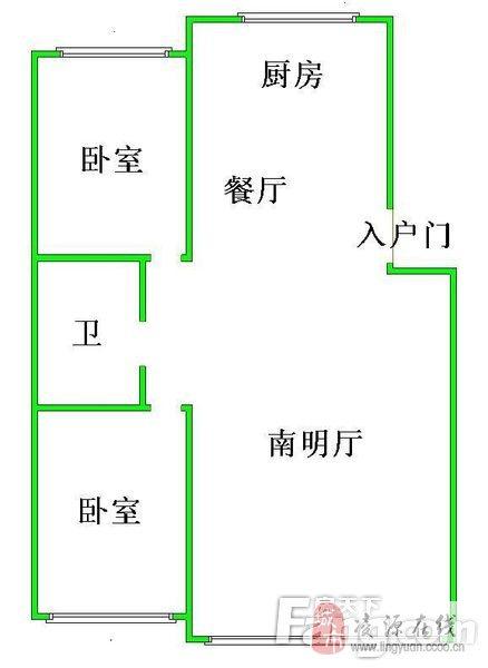 恒福家園2室2廳1衛37萬元有房照