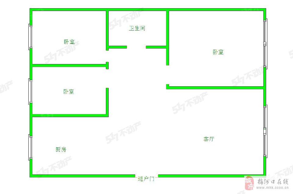 博文花园3室2厅1卫40万元