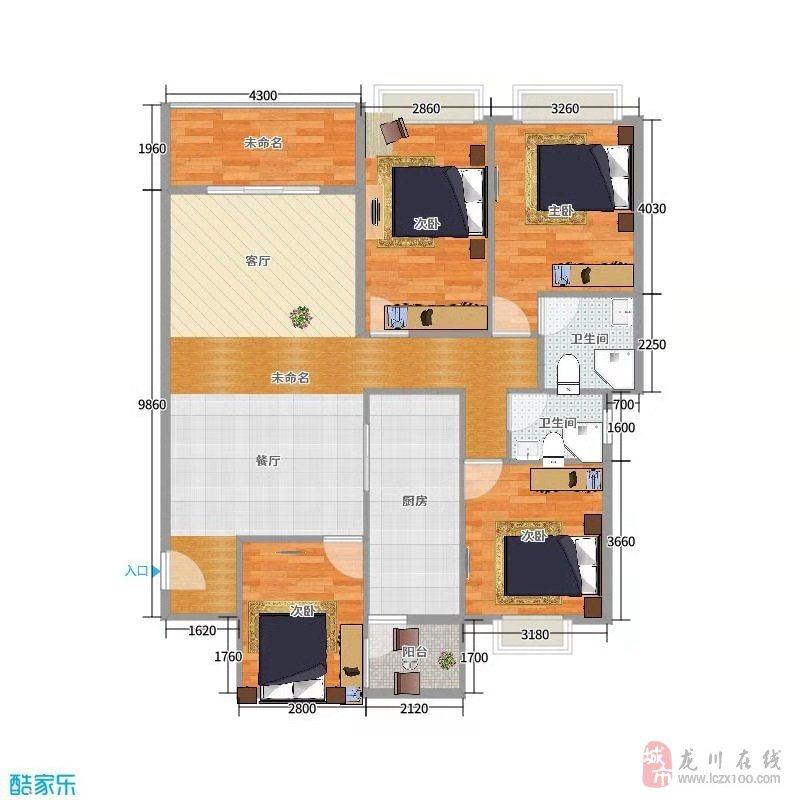 兴隆大厦125平米小高层电梯毛坯四房售68.8万