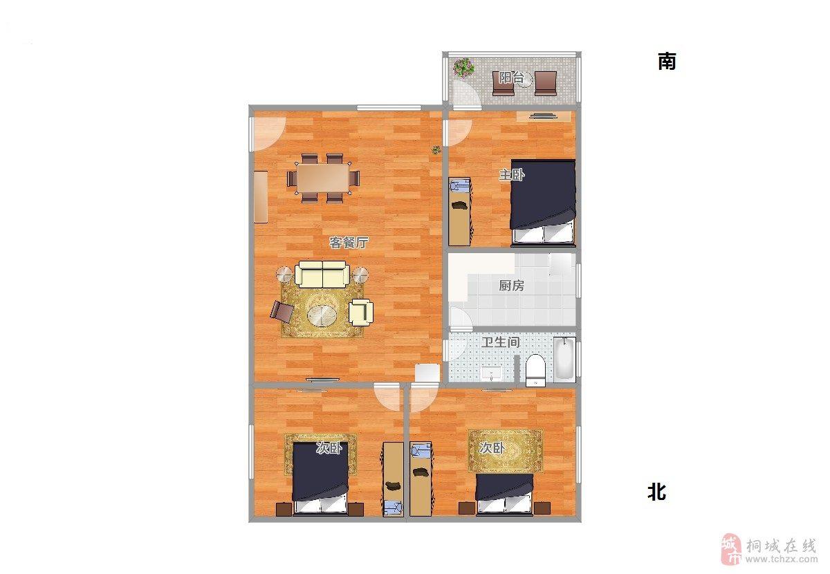 出售图书馆宿舍精装房3室2厅1卫45万元