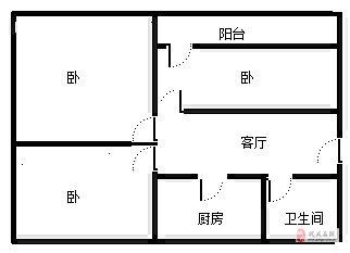 宋陵大廈家屬樓3室1廳1衛24萬元