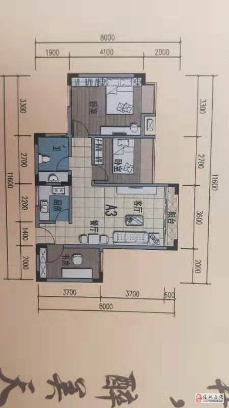盛世皇冠房产证面积71平方送15平方2房可以改3房