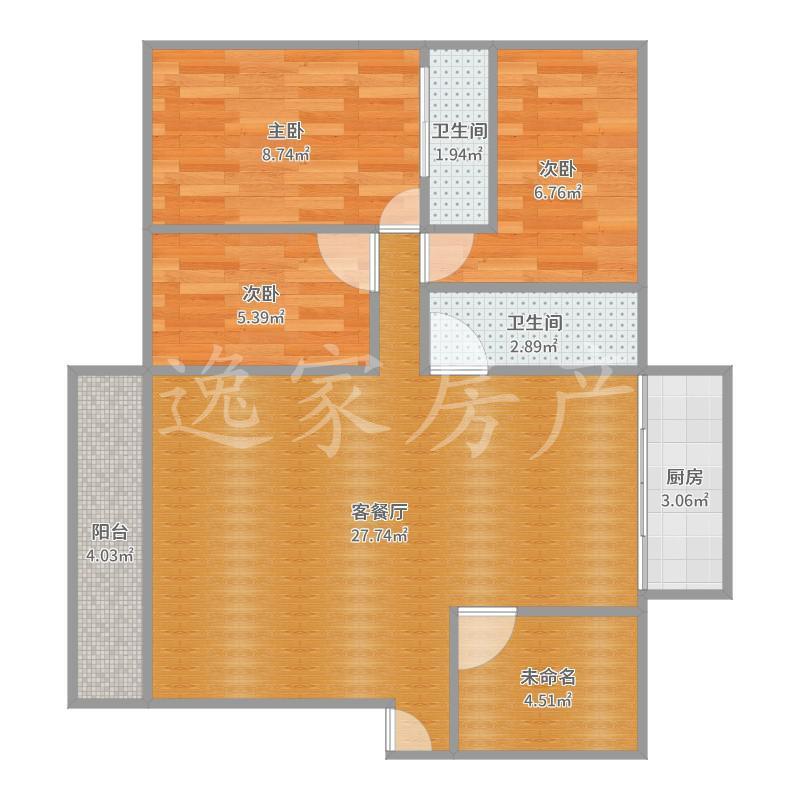 小区房精装修四室,价格划算。