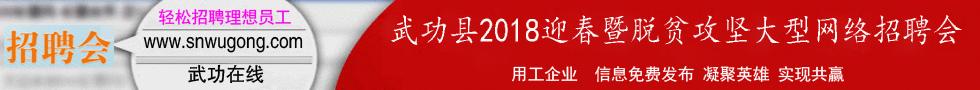武功县2018迎春暨脱贫攻坚大型网络招聘会