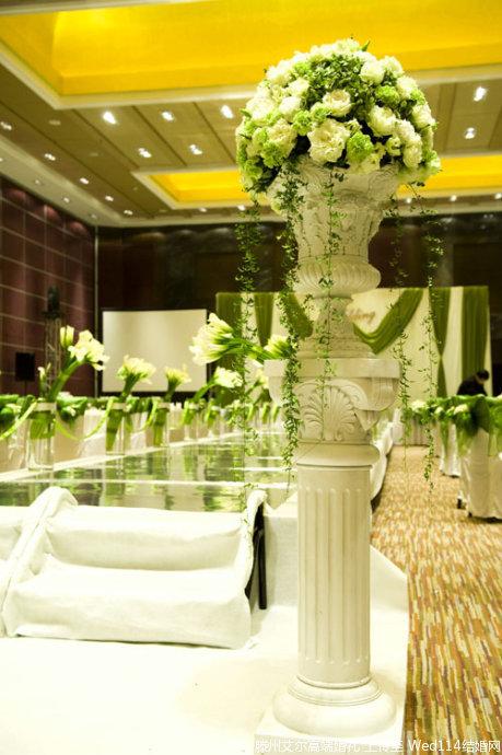 绿色马蹄莲主题婚礼
