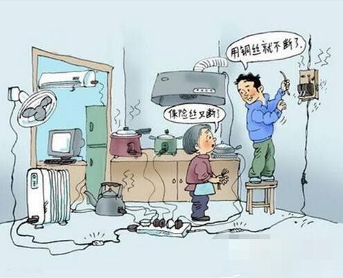 跳闸,断电还是小事,如果因为电路不安全发生火灾就悲剧了.