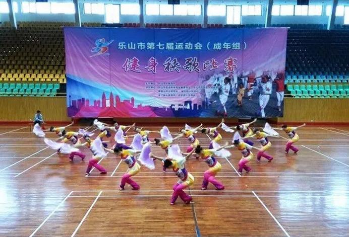 【焦点】夹江健身秧歌队市七运会再传捷报