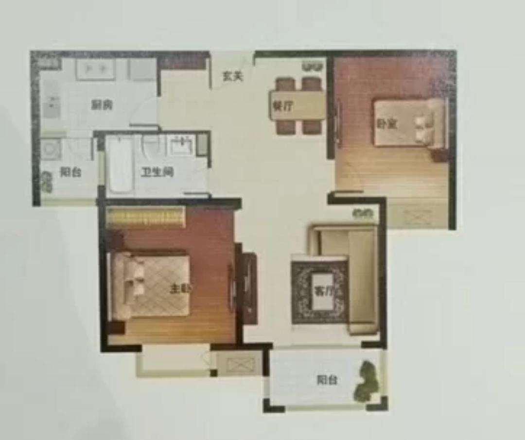 駿景溪悅2室 2廳 1衛58萬元