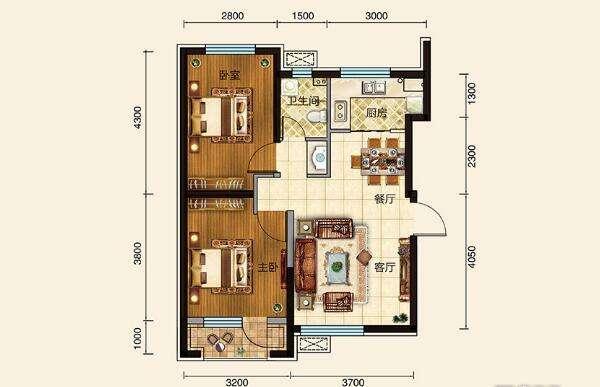 富民家园2室 2厅 1卫41.5万元