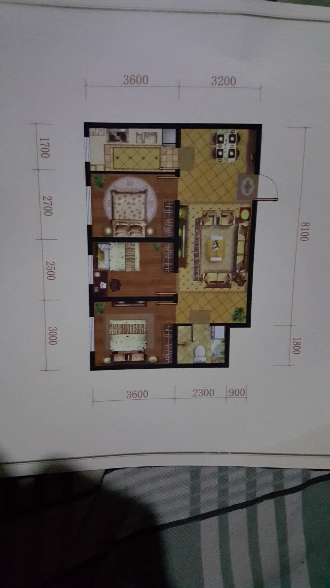 湖镜台3室 2厅 1卫55万元