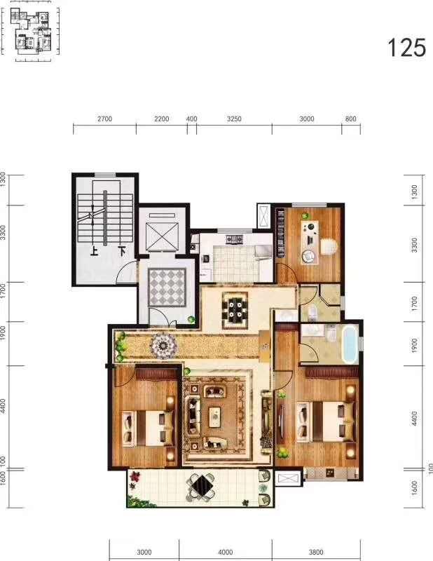 龙记檀府3室 2厅 2卫67万元
