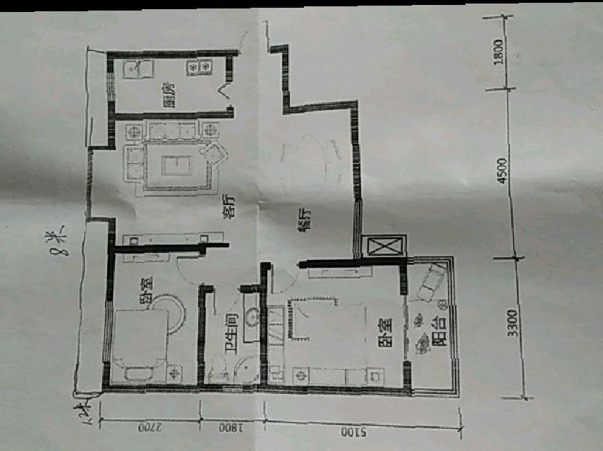 易居時代2室 1廳 1衛65萬元