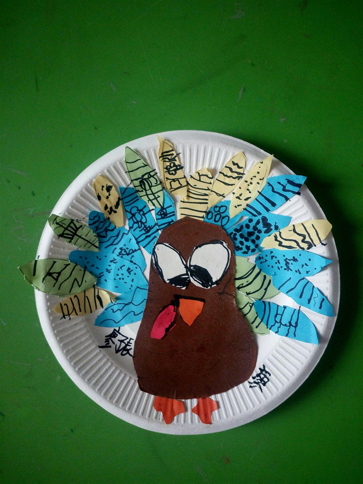 毛毛虫少儿创意美术感恩节手工作品欣赏