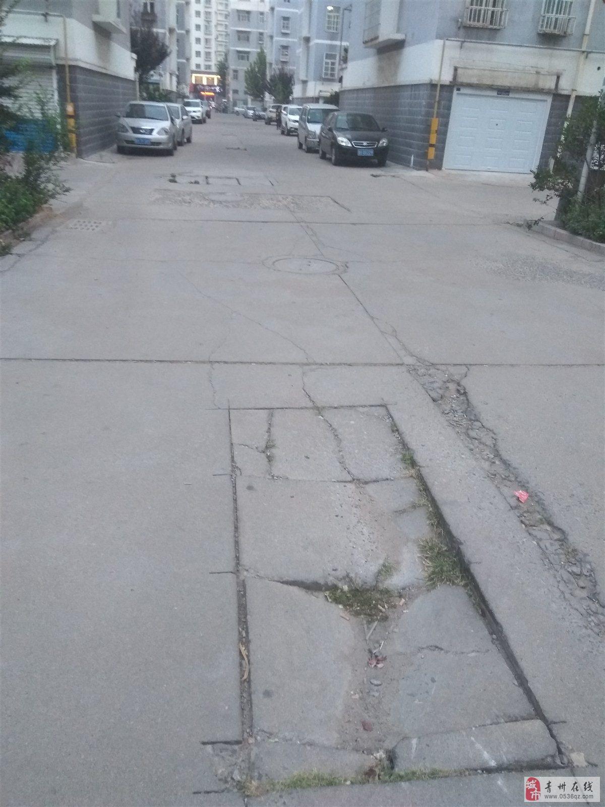益王府安置区西区中心路太烂了。