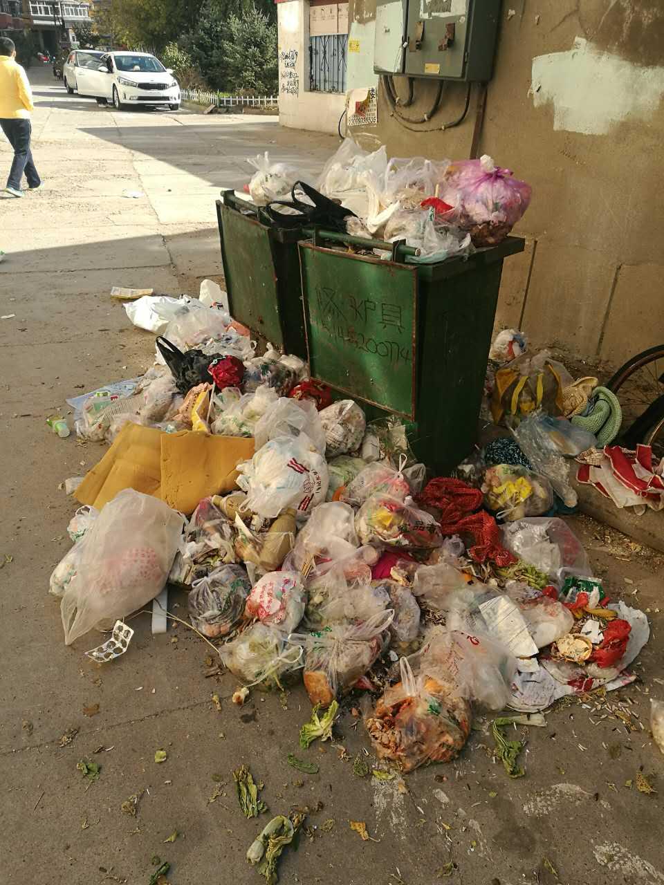 齐齐哈尔胜利小区119号楼垃圾无人管,难闻臭味!