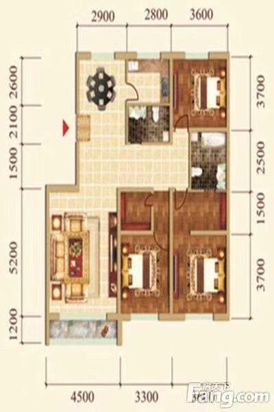 城尚城3室 2厅 2卫80.62万元
