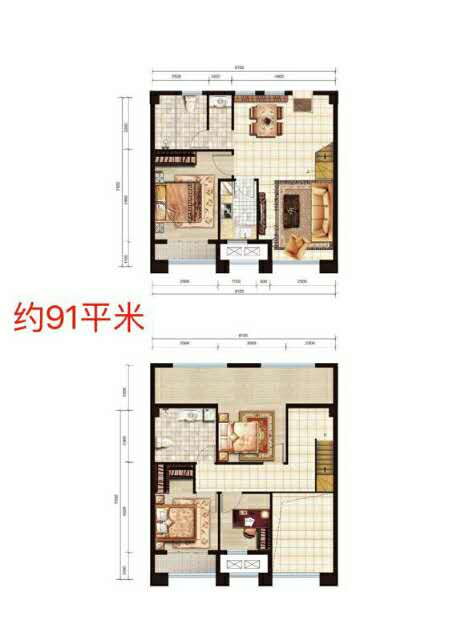 东一时区2室 1厅 1卫35万元