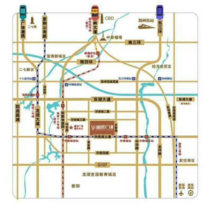 郑州市华南城盛世广场2室 1厅 1卫40万元