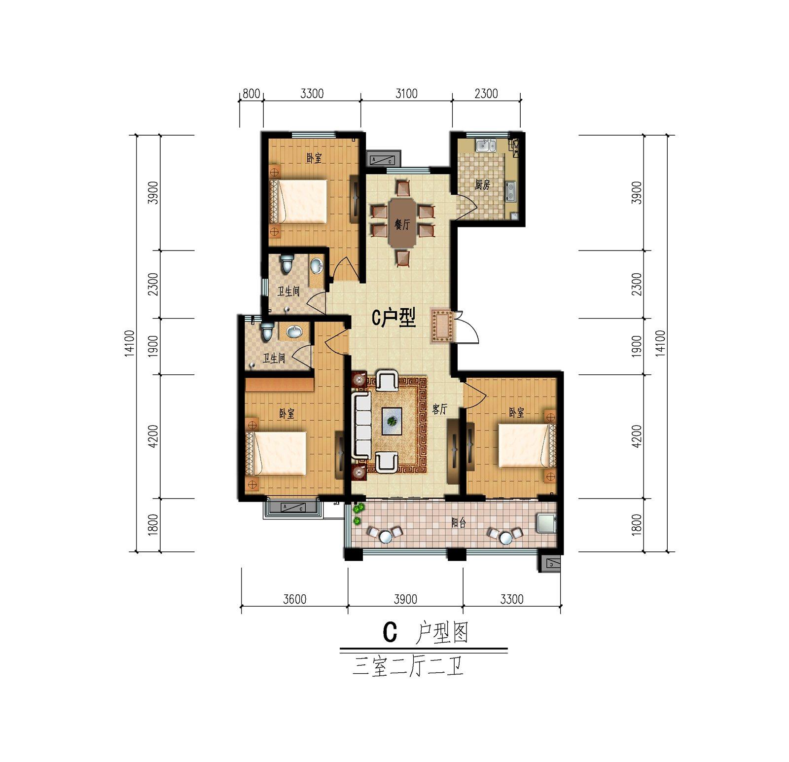 清丽园二期3室 2厅 2卫45万元